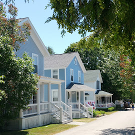 Mackinac 4th of July by Beth Bowman - Buildings & Architecture Homes