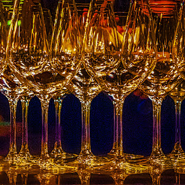 Glasses for Festive Occassion by Garry Dosa - Artistic Objects Glass ( festive, glasses, artistic, object, colours )