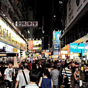 Mongkok Street Hongkong by Silvano Rikiputra II - People Street & Candids