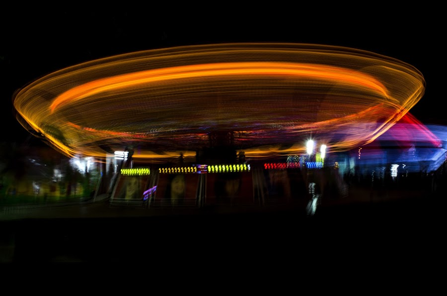 The Rotating Wheel by Mohammad Khairizal Afendy - Public Holidays Other ( holiday, landmark, light trail, park, event, best, fun fair, holiday lights,  )