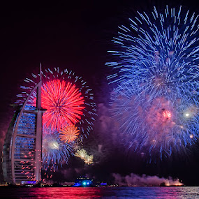 Burj Al Arab Fireworks Display by Andrew Madali - Public Holidays New Year's Eve