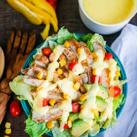 Cheddar Cheese Sauce Chicken Salad