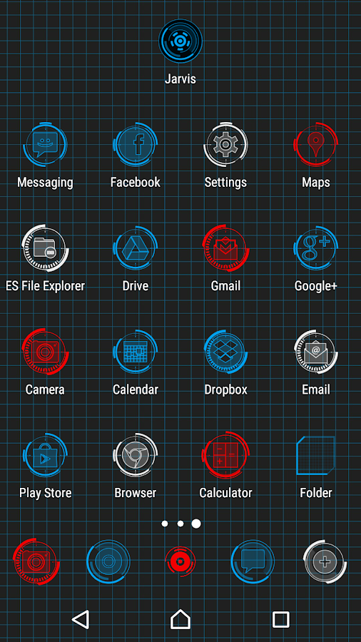 JARVIS - icon pack Screenshot