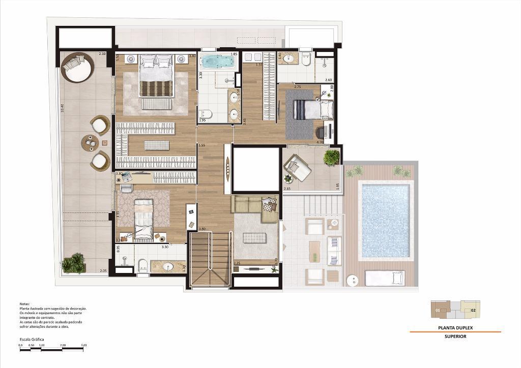 Planta Duplex Superior - 305 m²