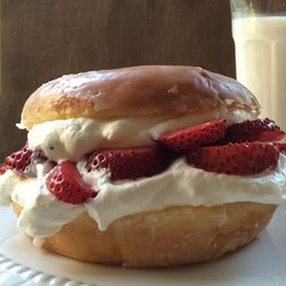 Glazed Doughnut Strawberry Shortcake