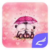 Download Pink Love Bear Theme APK on PC