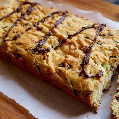 Chocolate Chip Zucchini Bread With A Chili Chocolate Drizzle