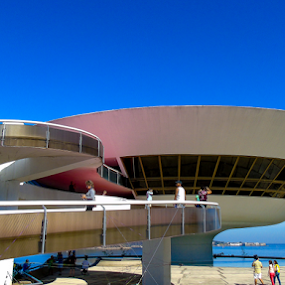 Museu Niemeyer, Niterói by Francisco Andrade - Buildings & Architecture Bridges & Suspended Structures ( museu, niterói, niemeyer, suspenso, brasil )
