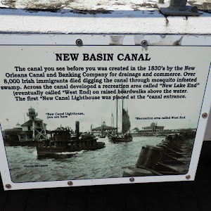 The canal you see before you was created in the 1830's by the New Orleans Canal and Banking Company for drainage and commerce. Over 8,000 Irish immigrants died digging the canal through mosquito ...