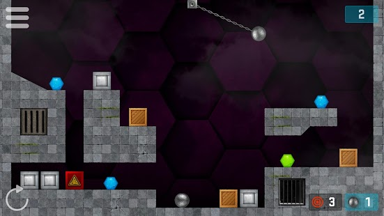 Hexasmash Pro - Wrecking Ball Physics Puzzle Screenshot