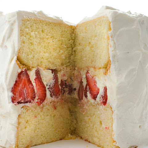 Strawberry Whipped Cream Cake