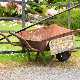 No Parking by Chris Haswell - Transportation Other ( england, uk, wheelbarrow, rust, lake district, gate )