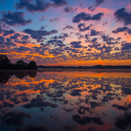 Morning Beauty by Lynn Kohut - Landscapes Cloud Formations ( dawn, cloud, lake, sunrise, landscape,  )