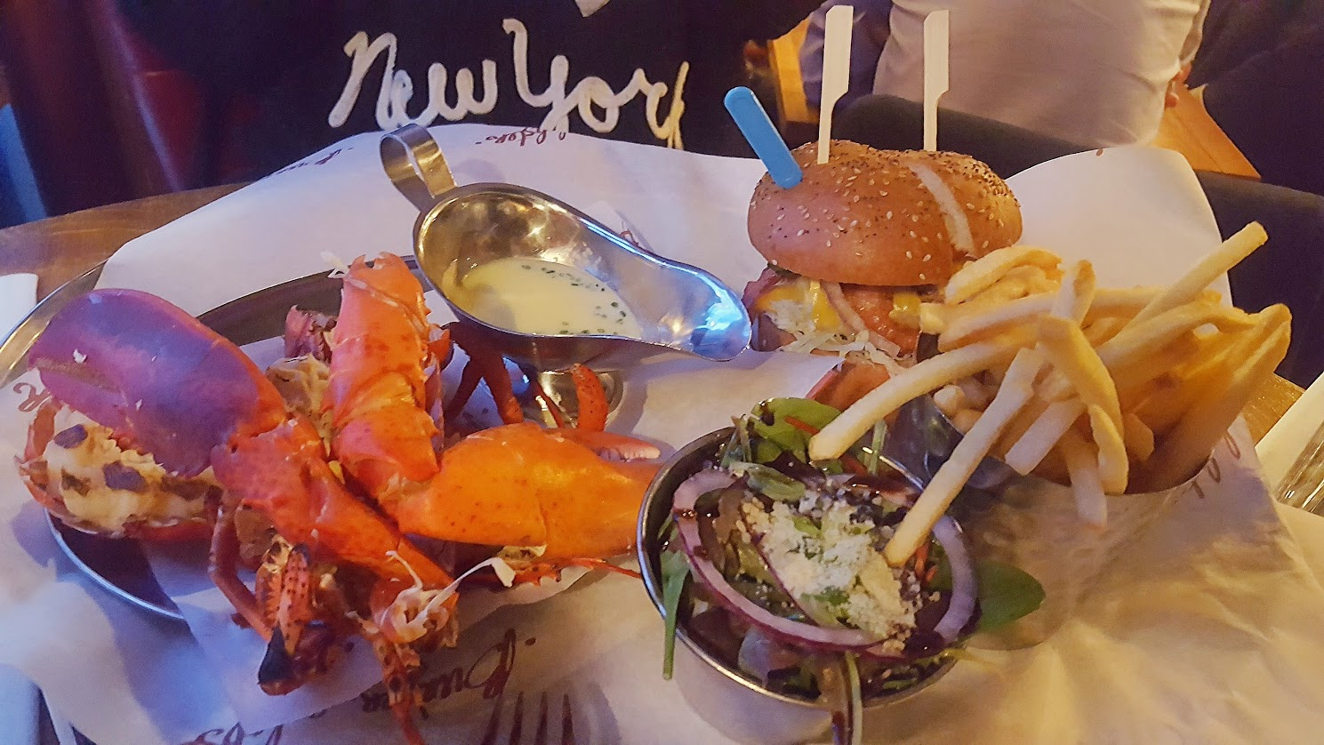 The Burger and Lobster Combo