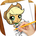 Download Draw for Equestrian Girl APK on PC