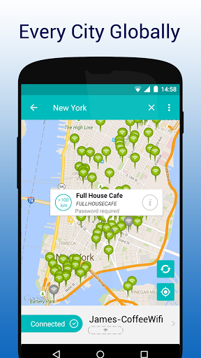 WifiMapper - Free Wifi Map Screenshot