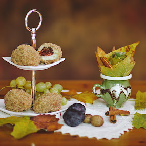 Plum dumplings by Nicu Buculei - Food & Drink Plated Food ( autumn, food, dumplings, plum,  )