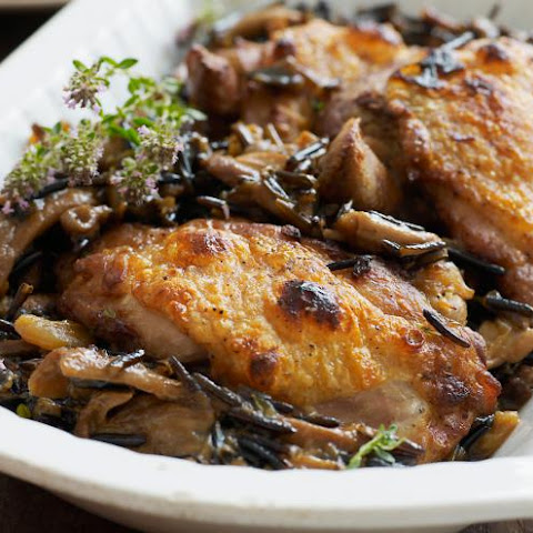 Easy Chicken Rice Casserole with Mushrooms