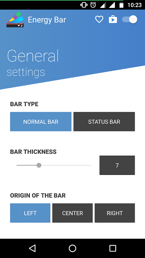 Energy Bar Screenshot 1