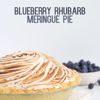 Blueberry Rhubarb Meringue Pie