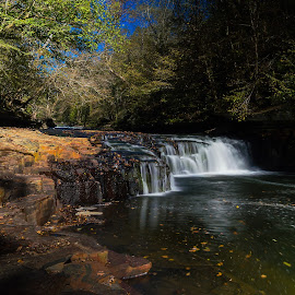 Little Falls by Thomas Jones - Landscapes Waterscapes ( little duck river, old stone fort, waterfall, tennessee, long exposure, little falls, landscape, manchester, infinity prime photography )