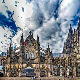 Cologne Cathedral by Pravine Chester - Buildings & Architecture Public & Historical ( cologne, building, cathedral, architecture, historic )