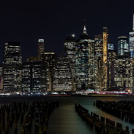 New York Manhattan Skyline by Abhishek Parashar - Buildings & Architecture Public & Historical ( manhattan, nyc, manhattan skyline, new york, new york skyline )