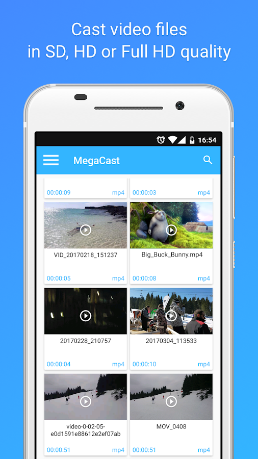 MegaCast - Chromecast player Screenshot 1