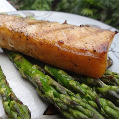 Grilled Hawaiian Moonfish (Opah) with Asparagus
