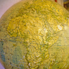 Old globe by Simo Järvinen - Artistic Objects Education Objects ( old, school, object, education, globe )