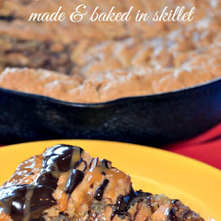 Easy Rolo Skillet Cookie