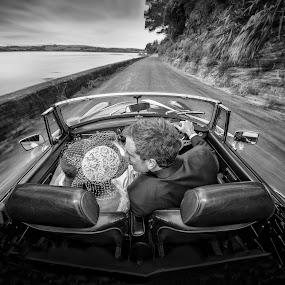 Fast Car by Adrian O'Neill - Wedding Bride & Groom (  )