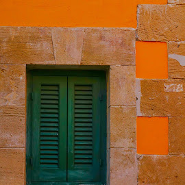 Window by Nelly Hip - Buildings & Architecture Other Exteriors ( orange, building, green, colors, architecture )