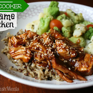 Sweet Slow Cooker Sesame Chicken