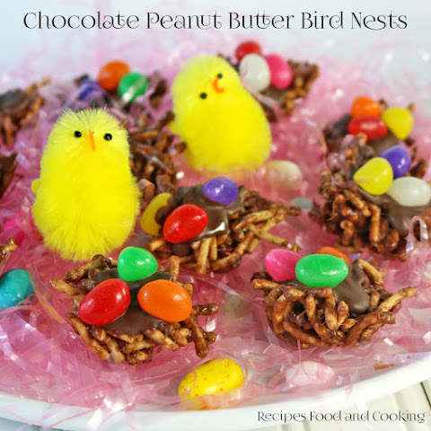 Chocolate Peanut Butter Bird Nests