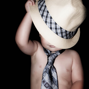 Mr. Professional by Victoria Evans - Babies & Children Children Candids ( child, tie, cute boy, business, hat )