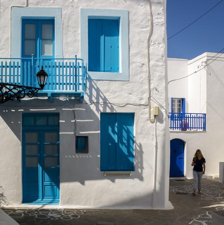 Aegean afternoon by Murat Besbudak - City,  Street & Park  Street Scenes