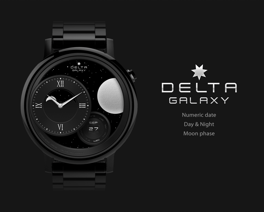 Galaxy watchface by Delta Screenshot