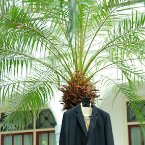 hanging jas by Teguh Adi - Wedding Other ( palm, jas, tree, wedding, morning, groom )