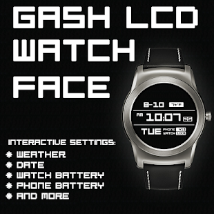 Gash LCD Watch Face - screenshot