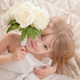 Mummy Wedding Dress by Jessy Jones-Photography - Wedding Other ( child, wedding, dressup, daughter, wedding dress, fun )