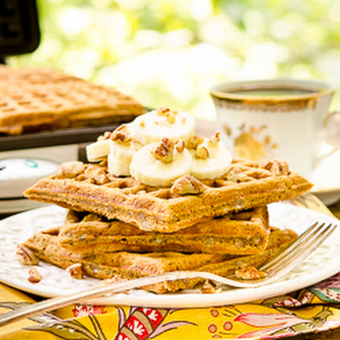Spiced Banana Nut Waffles