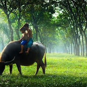Children of Rumpin, Bogor Indonesia by Reza Roedjito - Babies & Children Children Candids