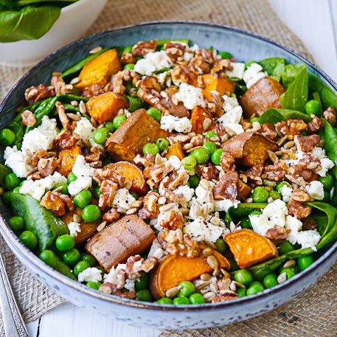 Sweet Potato, Pea and Feta Salad