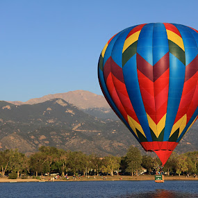 Quilted Beauty by Jen Millard - Transportation Other ( mountains, peak, pikes, colorado, hot, lake, air, balloons, balloon, float )