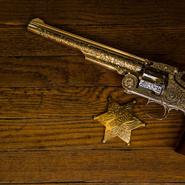 Wyatt Earp Marshall Star and 1874 Schofield .44 Smith and Wesson revolver by Florin Marksteiner - Artistic Objects Antiques ( schofield, guns, cowboy, sheriff, star, wyatt earp, marshall, smith and wesson, badge, outlaw, revolver, wild west )