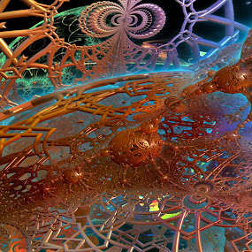 Ambience To The 1st Degree by Rick Eskridge - Illustration Abstract & Patterns ( abstract, jwildfire, mb3d, fractal, twisted brush )
