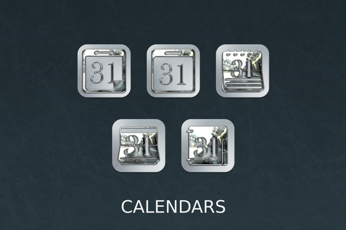 Silver Chrome Icon Pack Screenshot 1