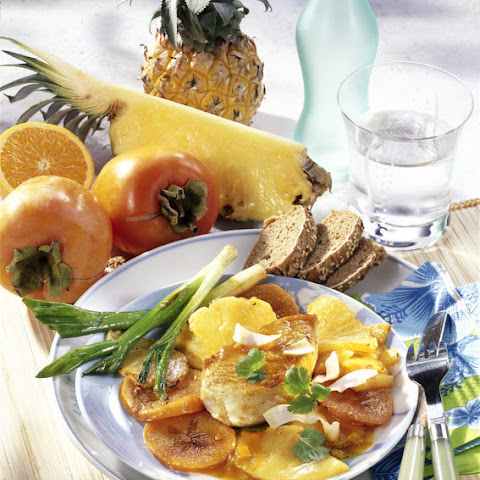 Turkey Cutlets with Tropical Fruit