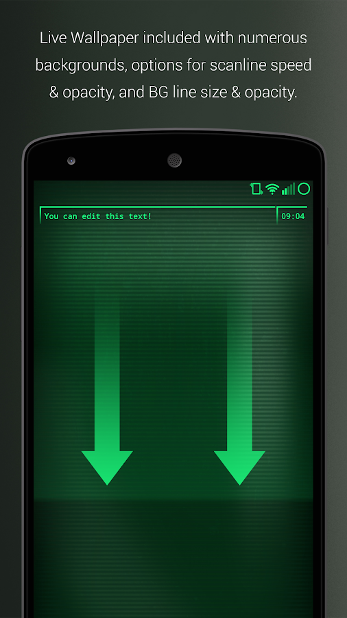 PipTec Green Icons & Live Wall Screenshot 2